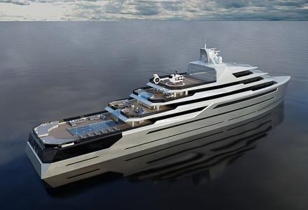 105m superyacht concept Equilibrium presented by Alejandro Crespo