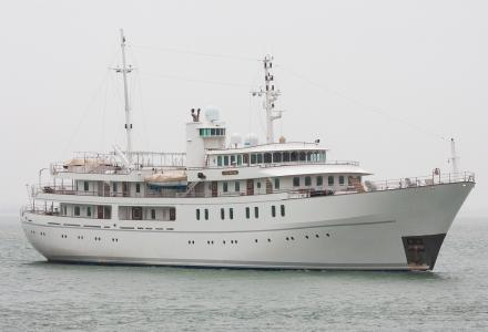 70m converted school vessel Sherakhan arrives back in Holland