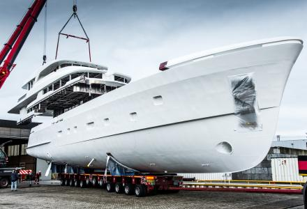 36m Moonen yacht Martinique nears completion