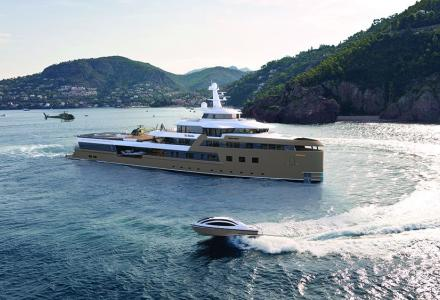 Interiors revealed on Russian billionaire's 77m explorer superyacht La Datcha