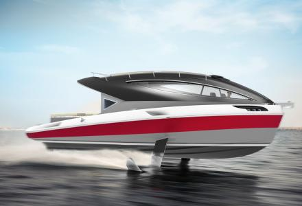 Pierpaolo Lazzarini introduces new 10.5m motor yacht on foils