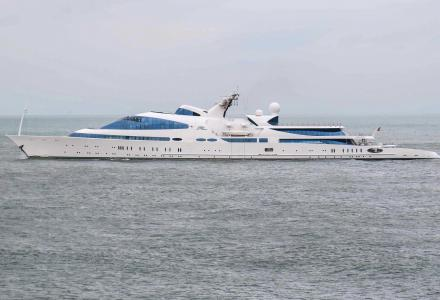 141m converted megayacht YAS leaves Holland for Norway
