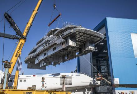 65m custom superyacht FB274 taking shape at Benetti