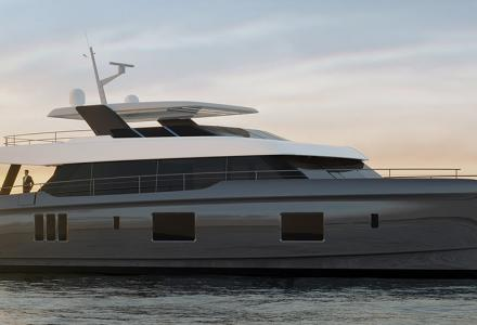 New 100 Sunreef Power Catamaran launching by Sunreef