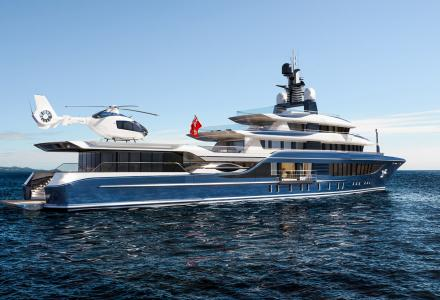 55m explorer yacht Supernova ready for outfitting