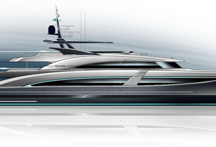 58m Tempo by DLBA: superyacht optimized with artificial intelligence in every system