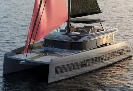 The green side of the new 80 Sunreef Power by Sunreef Yachts