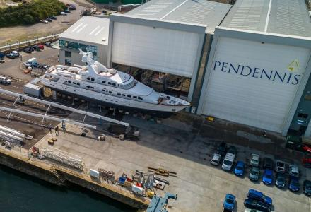 Pendennis Shipyard in Falmouth reopens after Covid-19