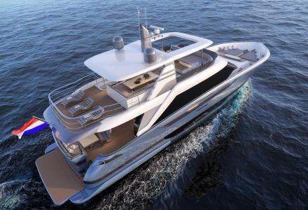 Van der Valk showcases new 25.5m Modern Flybridge