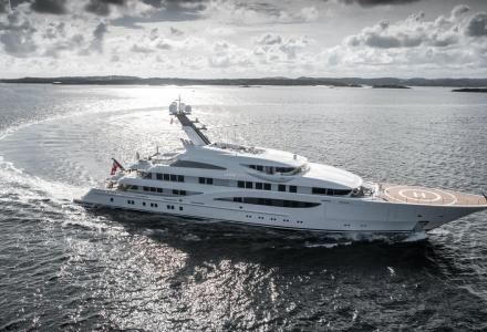 Have an inside look at the 85m Lürssen yacht Amatasia