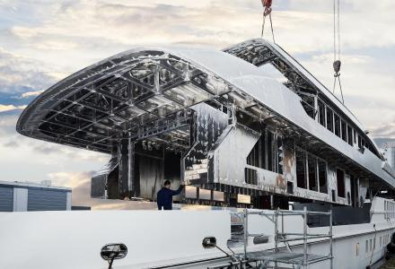 A tour inside in-build 55m superyacht Project Pollux
