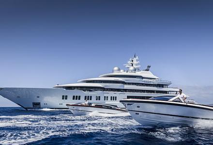 An inside look: 106m Lürssen superyacht Amadea was spotted in Abu Dhabi