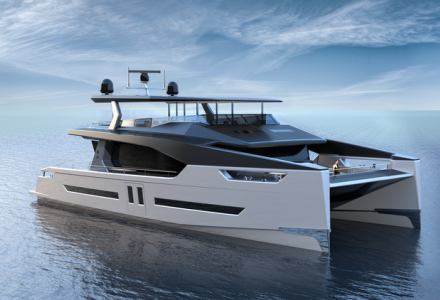 Alva Yachts has revealed 27.5 m electric catamaran Ocean Eco 90