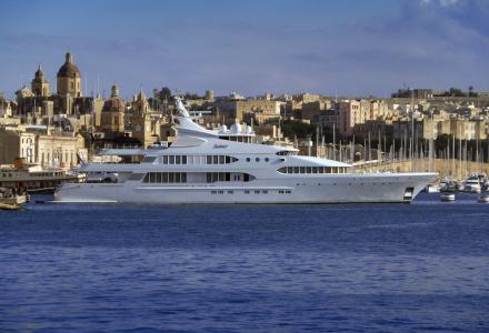 Spotted: Kuwaiti billionaire's $100 million yacht Samar in Malta