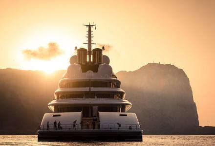 Spotted: the longest yacht in the world, 180m Lürssen superyacht Azzam in Gibraltar