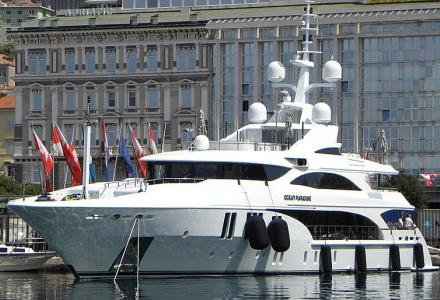 Spotted: Benetti's 55m yacht Ocean Paradise has been seen in Rijeka