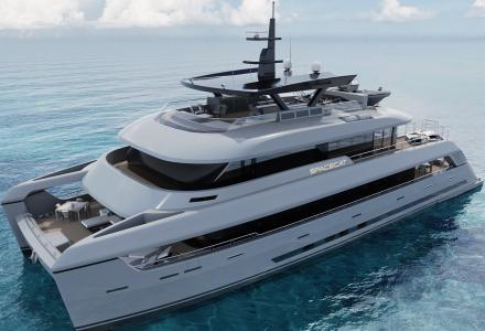 New renderings of 35m SpaceCat by SilverYachts