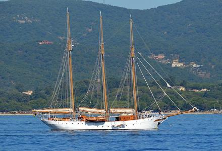Spotted: 1927 classic sailing yacht Trinakria in St. Tropez