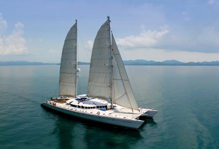 Douce France - world's largest schooner sailing catamaran announced available for sale