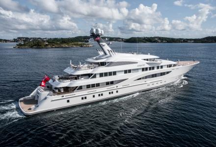 The 85-metre superyacht Amatasia by Lürssen spotted in Phuket