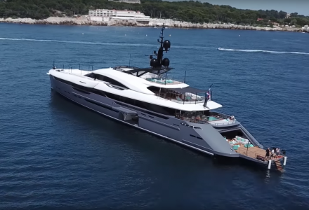 Utopia IV - the winner of the 2019 Semi-Displacement or Planing Motor Yachts 40m and Above World Superyacht Award