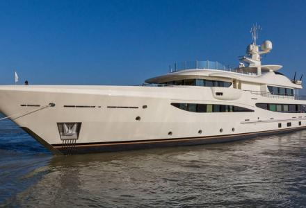Amels 469 Limited Editions 180 yacht hits the water