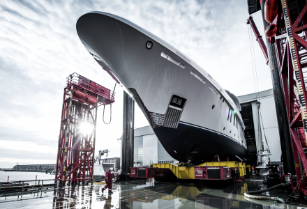 The First Amels 200 Has Launched at the Damen Yachting Yard
