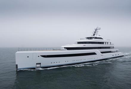 88m Feadship Zen at the Sea Trial