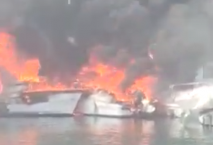 Video: Fire Has Destroyed Four Boats in Can Picafort