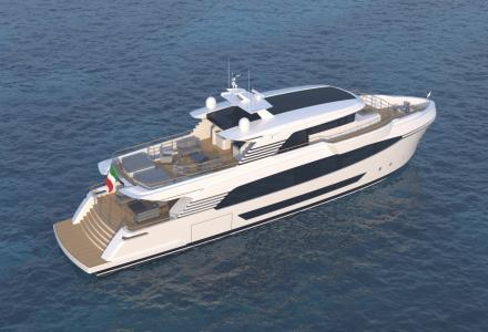 Tommaso Spadolini Presents the 32.8m Motor Yacht Concept