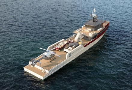 The Newest Rosetti's Superyachts 55m Support Vessel