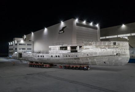 The CRN Yacht 142 Bespoke Is Under Way
