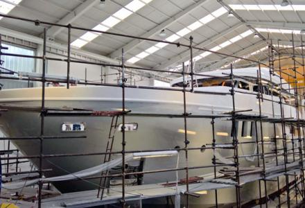 Otam SD35 superyacht Gypsy nearing completion