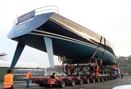 33.83m sailing yacht Cygnus Montanus hits the water in New Zealand