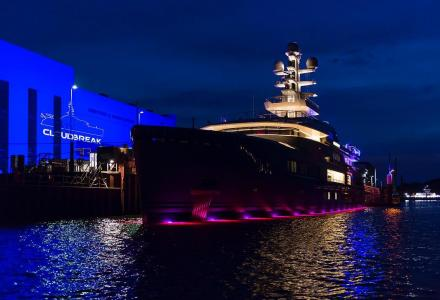 72.5m explorer yacht Cloudbreak delivered
