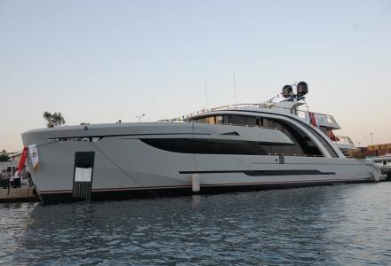50m superyacht Euphoria makes a splash