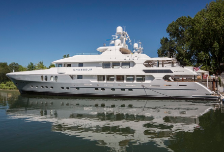 50m superyacht Chasseur launched at Christensen