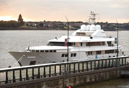 60m superyacht Jamaica Bay spotted in Liverpool
