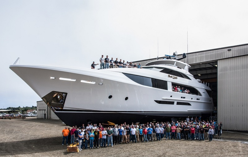 First 38m superyacht Black Gold launches at Westport - Yacht