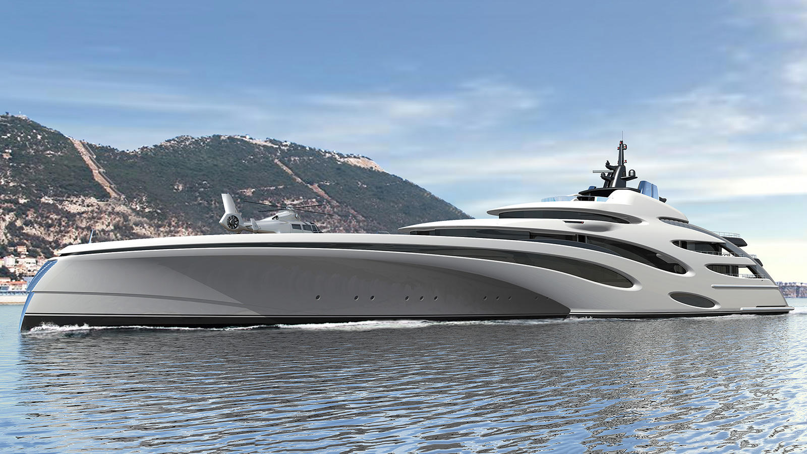 120m Eco Yachts trimaran concept revealed - Yacht Harbour