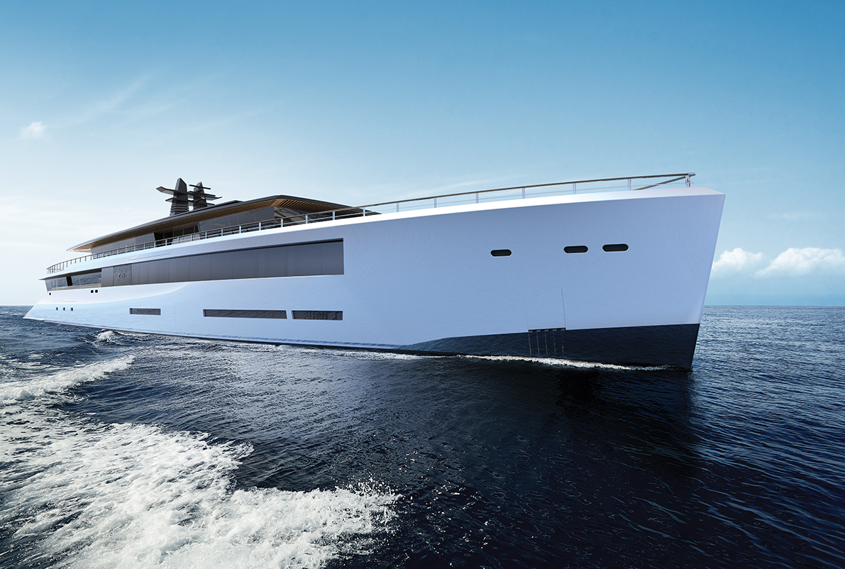 80m superyacht Zen is the result of a close cooperation of two longtime partners in the yachting world, Sinot Exclusive Yacht Design and Feadship Royal ...