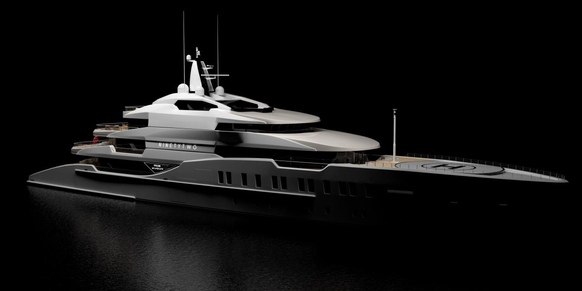 Chinese Shipyard Pride Mega Yachts Has Collaborated With Dubai Based Yacht Designer Cyrille Bieri To Create 92m Superyacht Concept