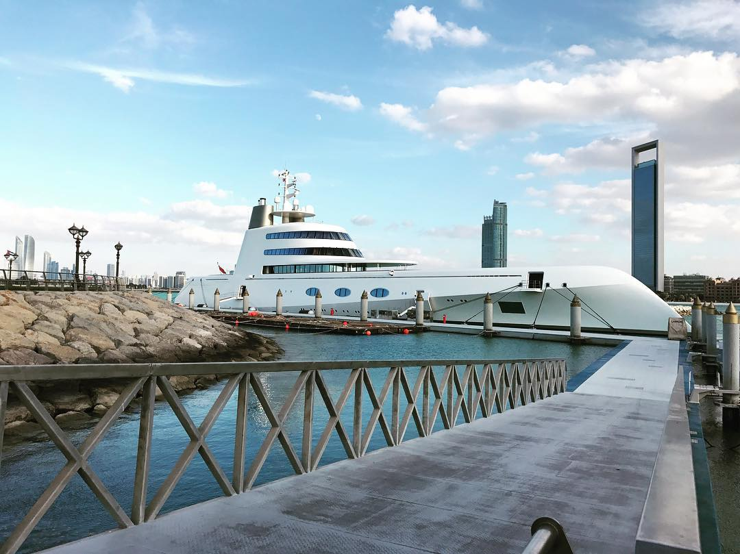 M/Y A spotted in Abu Dhabi, the UAE - Yacht Harbour