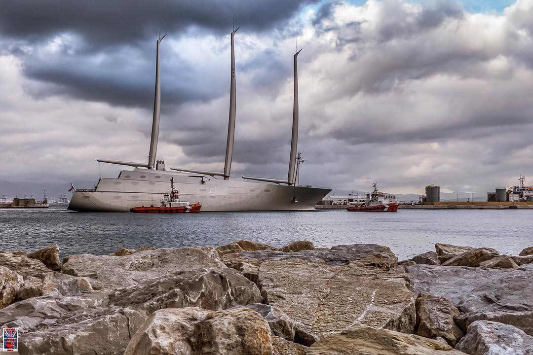 Sailing Yacht A Arrested Over 15 3m Claim In Gibraltar Yacht Harbour