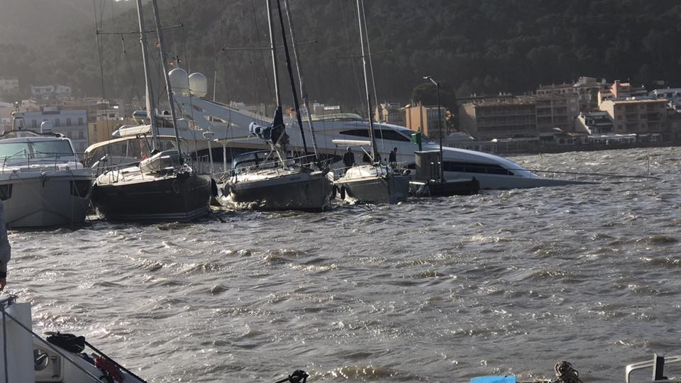 34m yacht sinks in Mallorca - Yacht Harbour