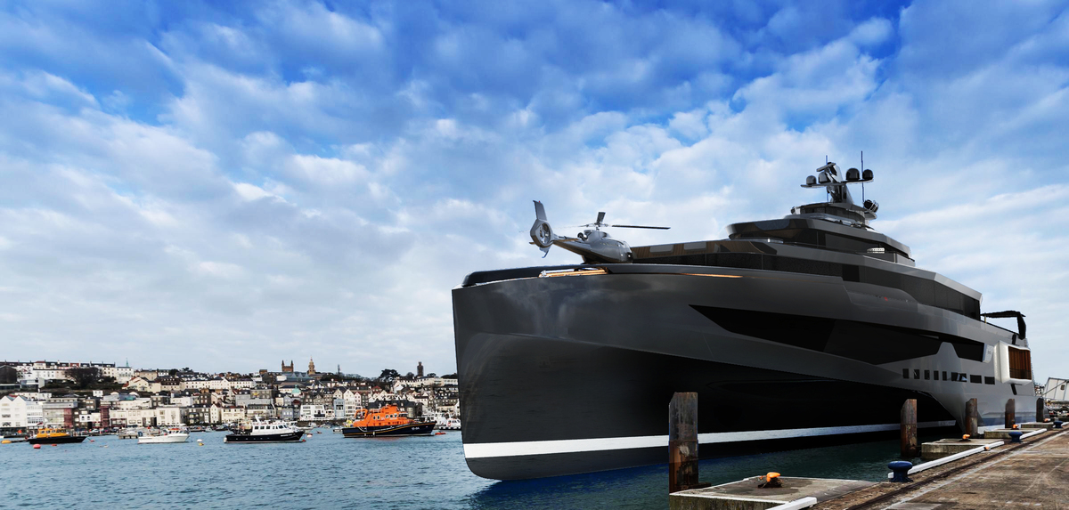New renderings of 102m concept Calibre - Yacht Harbour