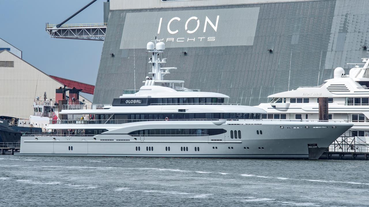 74m Lürssen Global undergoing refit at Icon Yachts - Yacht Harbour