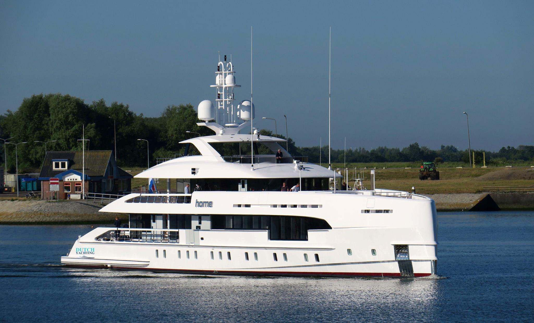 Heesen Home undergoing sea trials - Yacht Harbour