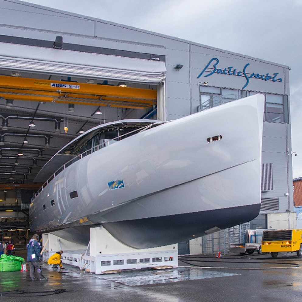 Bill and Me hits the water at Baltic Yachts - Yacht Harbour