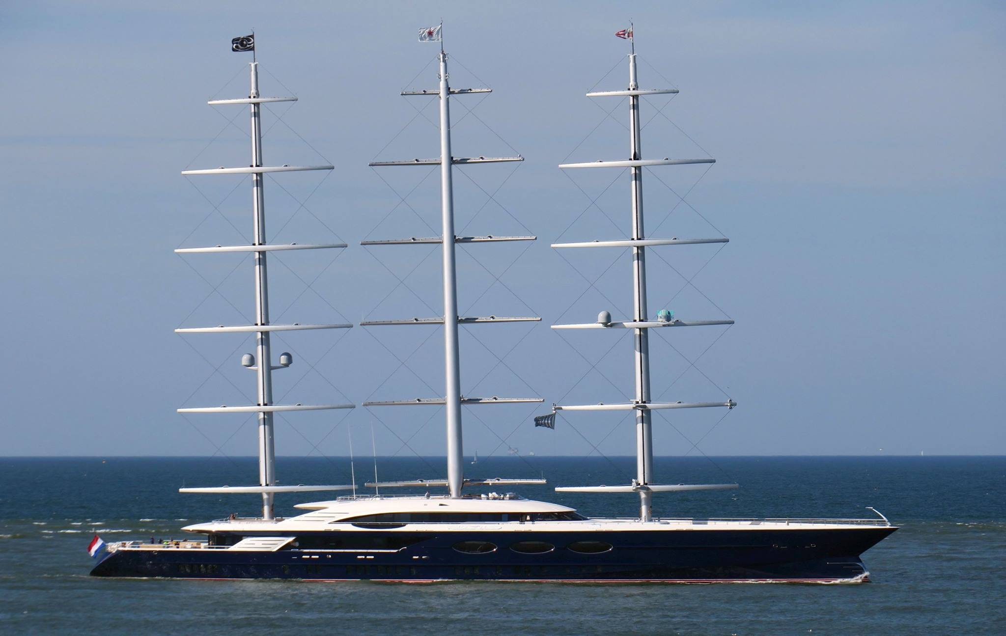 Oceanco's Black Pearl undergoing sea trials - Yacht Harbour